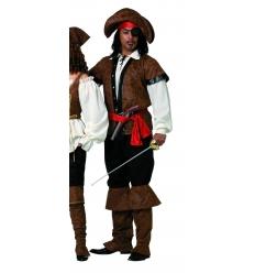 Disfraz pirata lujo adulto
