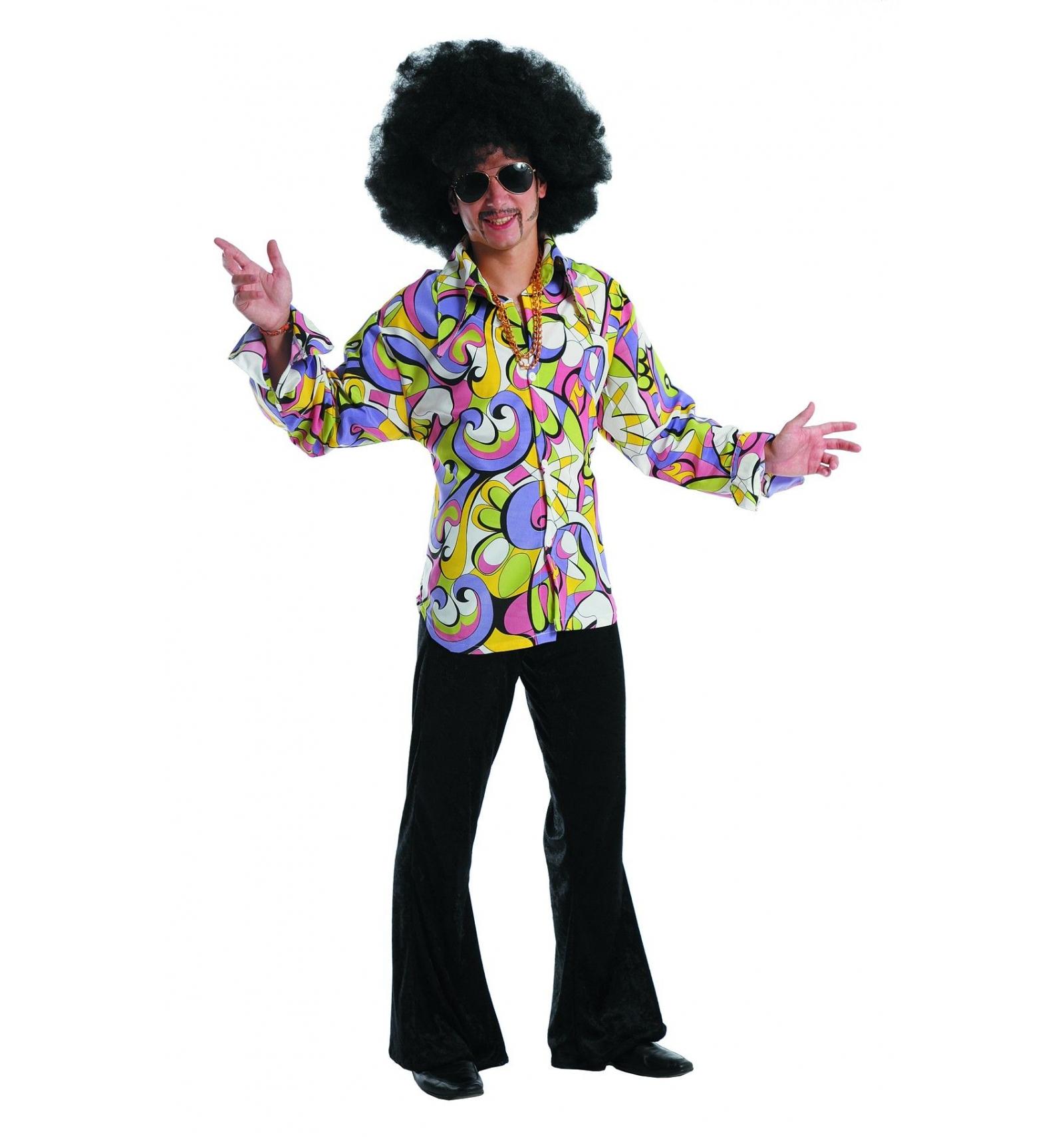 d guisement hippie ann es 70 homme t xxl magasin deguisements offres. Black Bedroom Furniture Sets. Home Design Ideas