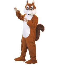 Squirrel mascot adult costume