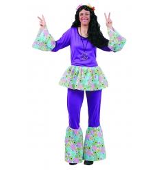 Disfraz hippie chica adulto