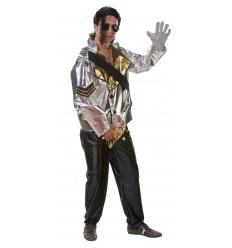 Disfraz rockero plata adulto