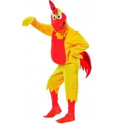 Disfraz pollo amarillo adulto