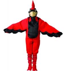 Disfraz pajaro rojo adulto