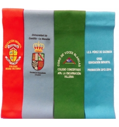 Graduation becas with embroidered shield