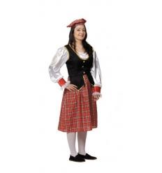 Disfraz escocesa adulto