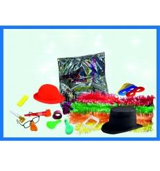 Cotillon lujo sombrero flocado