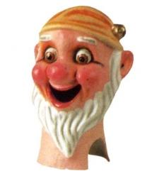 Cabezudo enanito barba torcida