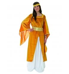 Disfraz medieval doncella dore adulto