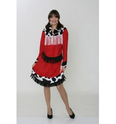 Disfraz rodeo oeste mujer adulto
