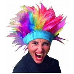 Regenbogen perücke mit stirnband