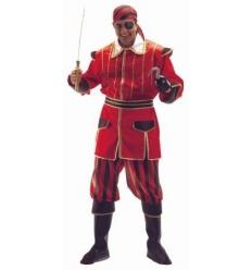 Disfraz pirata rayas rojas