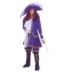 Musketeer ladies blue costume