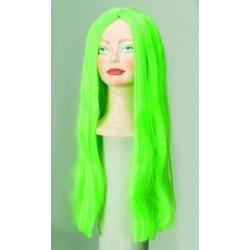 Perruque chevelure longue et raide couleurs