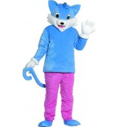 Disfraz gato con cabeza adulto