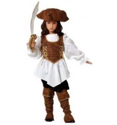 Disfraz pirata bucanera niÑa infantil